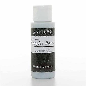 Peinture acrylique Docrafts (2oz) - Vernis pailleté (DOA 763010)