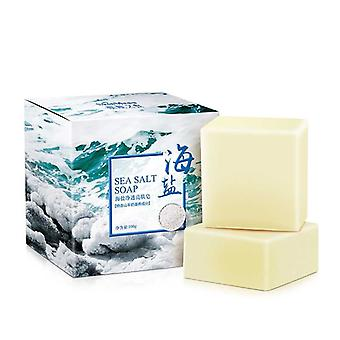 Sea Salt Goat Milk Moisturizing Soap Cleaner Used For Removal Pimple ,pores