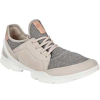 Ecco Womens Biom Street Pelle Casual Fashion Trainers Sneakers - Gravel