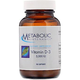Entretien métabolique, vitamine D-3, 5 000 UI, 90 capsules