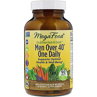 MegaFood, Men Over 40 One Daily, 90 Tablets