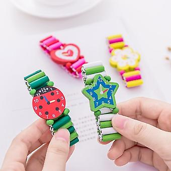 Bracelet Wooden Elastic Band Watch Cute Education