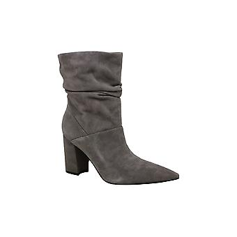 Nine West Women's Shoes Cames Leather Pointed Toe Mid-Calf Fashion Boots