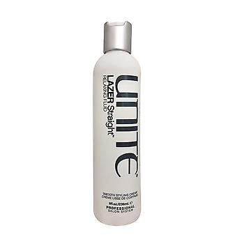 Unite Lazer Straight Relaxing Fluid Smoothing Styling Cream 8 OZ