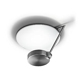Leds-C4 GROK - LED 1 Light Dimmable Medium Semi Flush Ceiling Light Satin Nickel