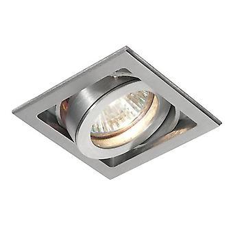 1 Light Recessed Downlight Aluminium, GU10