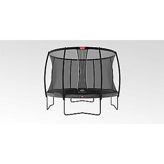 berg champion regular grey 430 14ft + safety net dlx xl trampoline