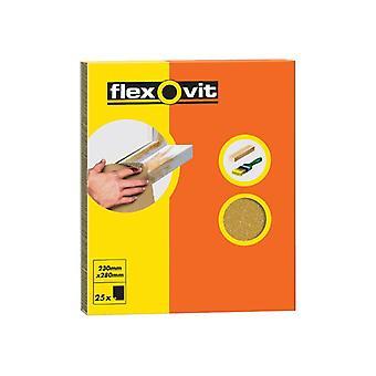 Flexovit Glasspaper Lixamento De Folhas 230 x 280mm Grau M2 (25) FLV58236