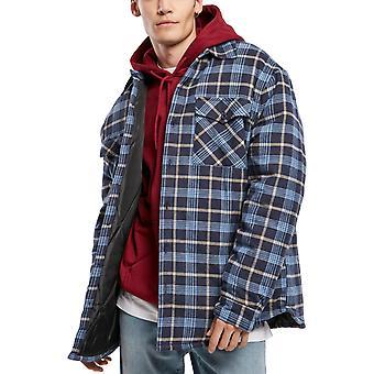 Urban Classics - Plaid Pikowana kurtka koszula jasnoniebieski