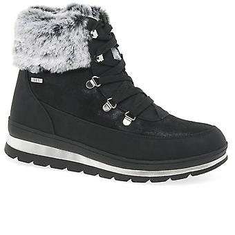 Caprice Mollie II Womens Faux Fur Trim Ankle Boots