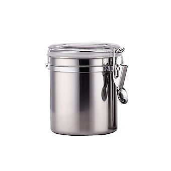 Stainless Steel Airtight Canister Food Storage Container Tea Coffee Sugar Canisters for Kitchen Counter