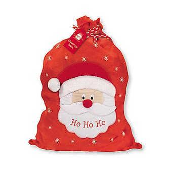 Large Velour Christmas Presents Santa's Sack Ho Ho Ho 70x 60cm