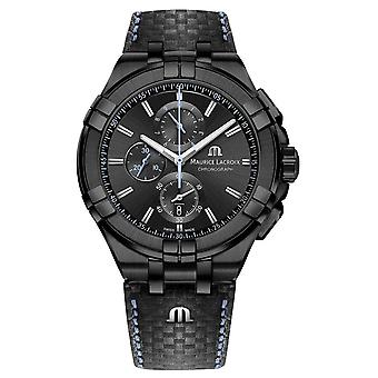Maurice Lacroix Men's Aikon Chronograph | Limited Edition | Black Leather AI1018-PVB01-337-1 Watch