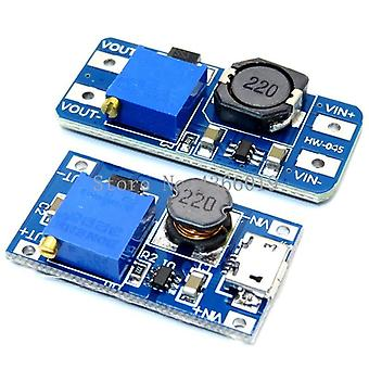 Módulo de impulso ajustable Dc-dc 2a Boost Plate Step Up Module With Micro Usb 2v-24v To 5v 9v 12v 28v