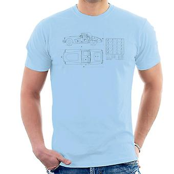 MG Schematic British Motor Heritage Men's T-Shirt