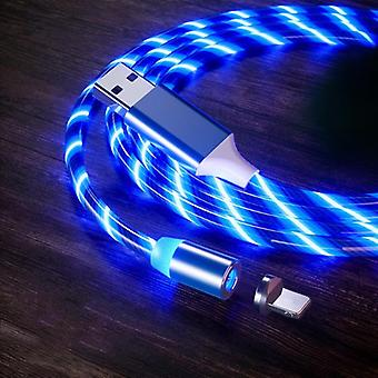 Magnetic fast charging cable with glow led light
