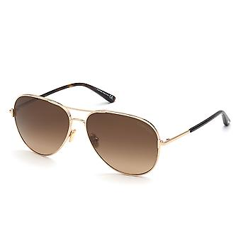 Tom Ford Clark TF823 28F Shiny Rose Gold/Brown Gradient Sunglasses