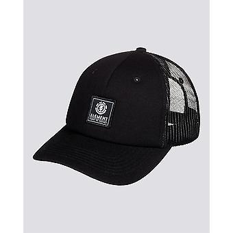 Element Men's Trucker Snapback Cap ~ Icon Mesh all black