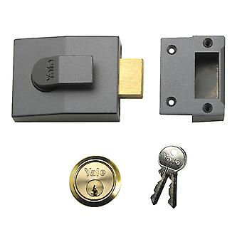 Yale bloqueia 82 Deadbolt Nightlatch 60mm Backset DMG Caixa de acabamento YAL82DMGPB