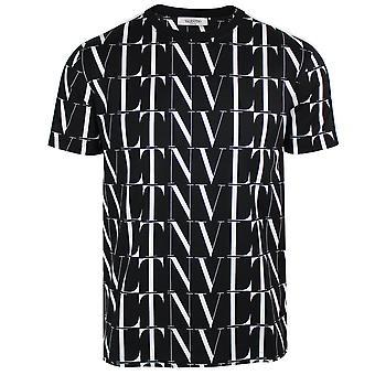 Valentino men's black vltn times print t-shirt