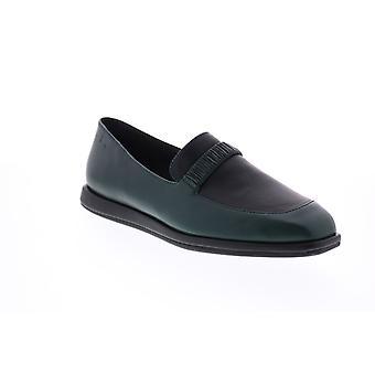 Camper TWS Womens Grön läder loafers & Slip Ons båt skor