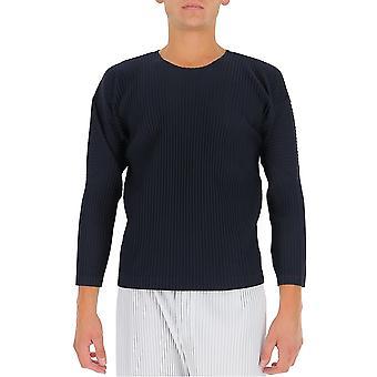 Homme Plissé By Issey Miyake Hp08jk02175 Men's Blue Polyester Sweatshirt