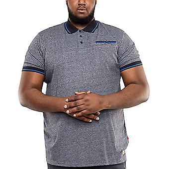 Duke D555 Mens Big Tall King Storlek Albany Pique Polo Shirt Top Tee - Denim Marl