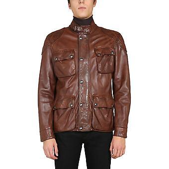Belstaff 71050563l81n073060003 Men's Brown Leather Outerwear Jacket