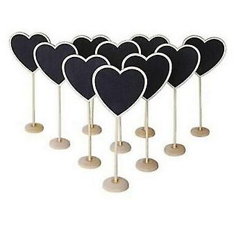 Heart Shape, Wooden Mini Blackboard, Chalkboard
