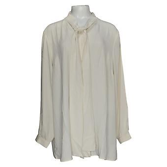 Martha Stewart Mujeres's Plus Top Woven Button Blusa Frontal Marfil A342443