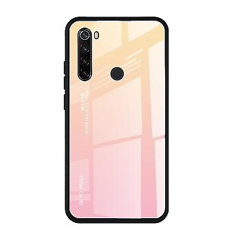 Mirror Gradient Tempered Glass Case For Redmi Note 9 Pro Cover