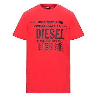 Diesel T-Diego-B6 Red T-Shirt