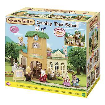 Familles sylvaniennes - école de forêt d'école d'arbre de campagne