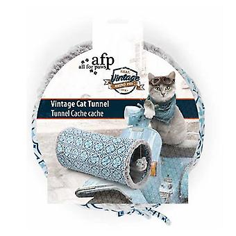 Cat Tunnel Crinkle Toys Grey Indoor Outdoor Hide Play Teaser Vintage
