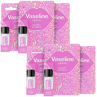 6x of 7ml, Vaseline Glossy Lip Shot Dani Dyer Non-Sticky Candy Floss Lip Gloss