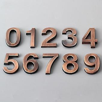 0-9 Modern 3d Hotel Apartment Door Number - Plastic Name Plate