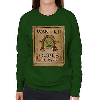 Shrek Princess Fiona Wanted Ogres Reward Women's Sweatshirt