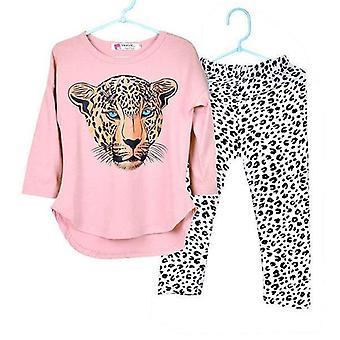 Full Sleeve T Shirt Leopard Leggings