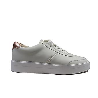 Clarks Hero Walk White Combi Leather Womens Casual Trainers