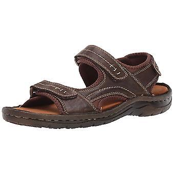 Propét Mens Jordy Leather  Open Toe Fisherman Sandals