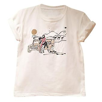 "White Graphic ""desert"" Women's Tee"