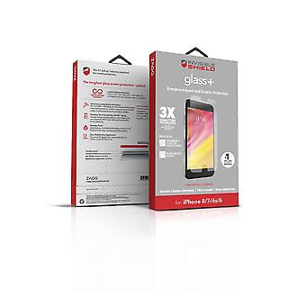 ZAGG InvisibleShield Glass+ Screen Protector - Made for Apple iPhone 8, iPhone 7, iPhone 6s, iPhone 6 - Extreme Impact and Scratch Protection - Seamless Touch Sensitivity - Clear