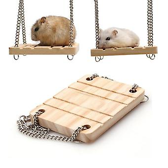 Small Animals Products, Wooden Swing Harness Hanging Bed Parrot Rest Mat