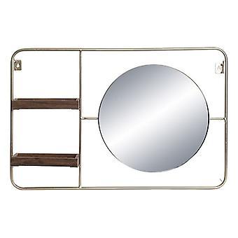 Estantería DKD Home Decor Chic Black Mirror Circular (60 x 8 x 40 cm)
