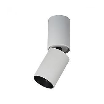 Plafón Spot Técnico Y Moderno Lunaro Blanco Negro