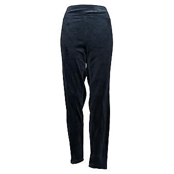 Cuddl Duds Women's Pants Plus Plush Velour Leggings Blue A293100