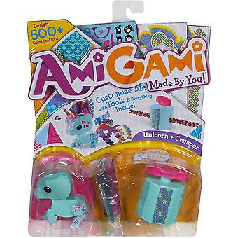 Amigami blue unicorn  with crimper