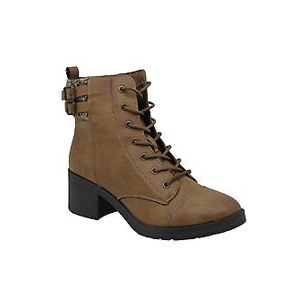 Rampage Women's Kellin Leather Round Toe Ankle Fashion Boots(Certified Refurbished)