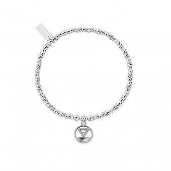 ChloBo Sterling Silver Sparkle Disc Earth Bracelet SBSD3112