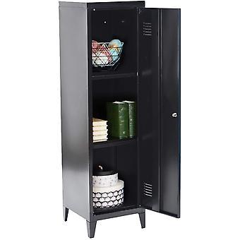 MEUBLE COSY COUNCILBLUFFS Black Sideboard Kleiderschrank Wohnzimmer Schrnke Metallschrank mit 3
